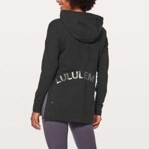 Lululemon black CUT ABOVE cotton branded hoodie